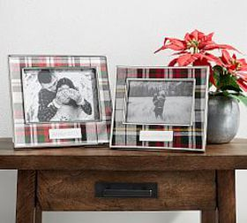 Pottery Barn Personalized Denver Plaid Picture Fra