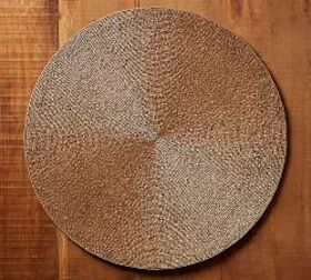 Pottery Barn Gold Beaded Round Placemat