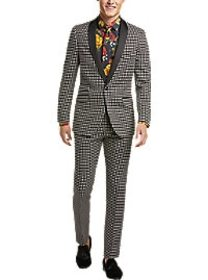 Paisley & Gray Slim Fit Sport Coat, Black and Whit