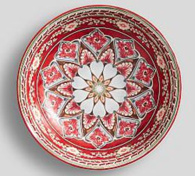 Pottery Barn Mezze Small Serving Bowl - Red