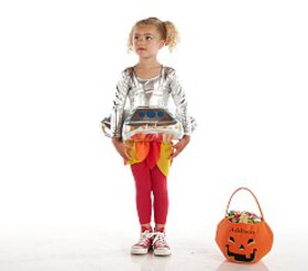 Pottery Barn Toddler Light Up 3D UFO Costume