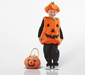 Pottery Barn Toddler Pumpkin Costume