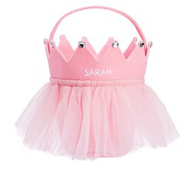 Pottery Barn Pink Tulle Crown Treat Bag