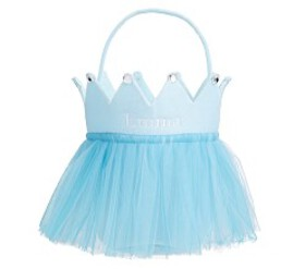 Pottery Barn Blue Tulle Crown Treat Bag