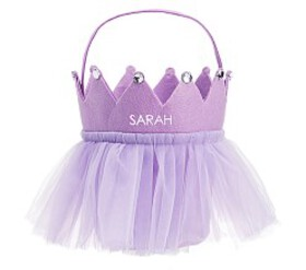 Pottery Barn Lavender Tulle Crown Treat Bag