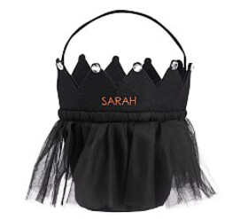 Pottery Barn Black Tulle Crown Treat Bag