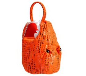 Pottery Barn Orange Dinosaur Treat Bag