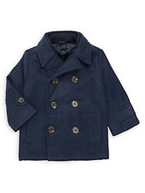 London Fog Baby Boy's Double-Breasted Coat NAVY