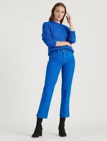 Lucky Brand Mid Rise Authentic Straight Crop Cordu