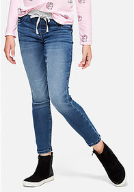 Justice Knit Waist Pull On Jean Leggings