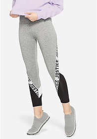 Justice Stripe Accent Mesh Leggings