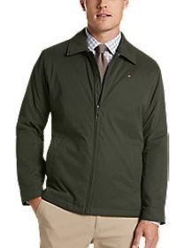 Tommy Hilfiger Green Modern Fit Microtwill Casual