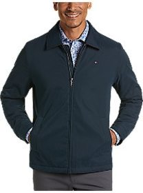 Tommy Hilfiger Navy Modern Fit Microtwill Casual J