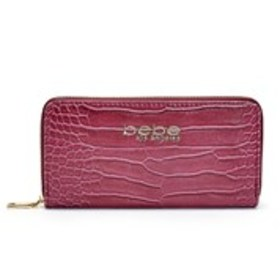 BEBE Bebe Trina Croc Embossed Zip-Around Wallet