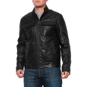 Cole Haan Washed Trucker Jacket - Leather (For Men