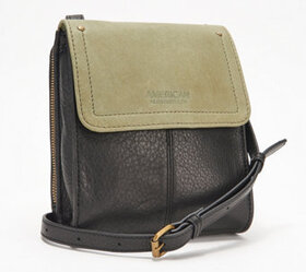 """As Is"" American Leather Co. Vintage Crossbody - A"