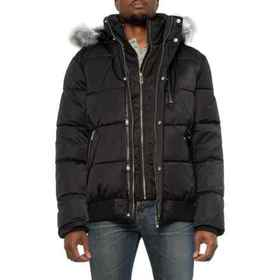 Noize Nixon Quilted Hooded Bomber Jacket - Insulat