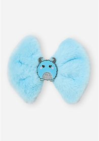 Justice Faux Fur Yeti Bow Hair Clip