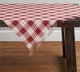 Pottery Barn Parker Plaid Table Throw