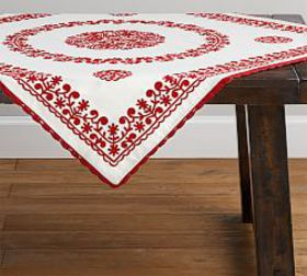 Pottery Barn Elsie Embroidered Table Throw