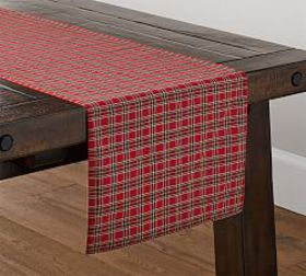 Pottery Barn Madison Plaid Table Runner
