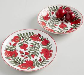 Pottery Barn Pomegranate Serving Collection