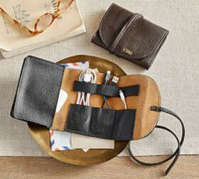 Pottery Barn Grant Leather Cord Roll