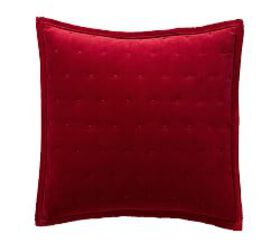 Pottery Barn Velvet Tufted Quilted Shams - Ruby