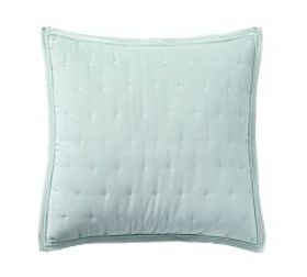 Pottery Barn Velvet Tufted Quilted Shams - Blue Ha