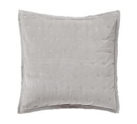 Pottery Barn Velvet Tufted Quilted Shams - Dark Sm