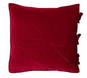 Pottery Barn Velvet Comforter Shams - Ruby