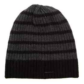 Rainforest Striped Beanie in Grey/Black - Closeout