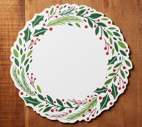 Pottery Barn Holiday Wreath Cork Placemat