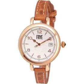 Frye Round Textured Dial Watch - Leather Strap (Fo