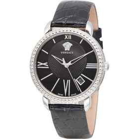 Krios Watch - Leather Strap (For Women) in Black/B