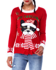 Fashion Lab woof christmas l/s sweater