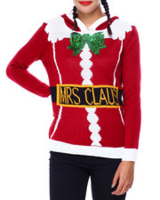 Fashion Lab mrs claus hooded sweater