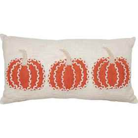 Made in India 3 Knit Pumpkins Throw Pillow - 14x26