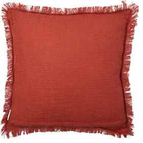 Made in India Pumpkin and Leaves Throw Pillow - 20