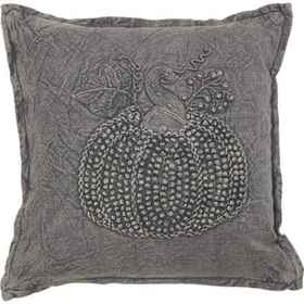 Made in India Grey Washed Pumpkin French Knot Thro