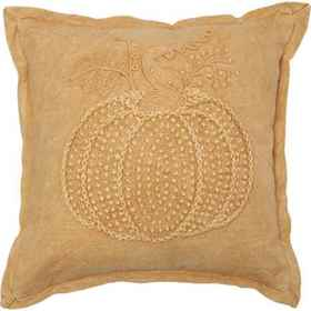 Made in India Mustard Washed Pumpkin French Knot T