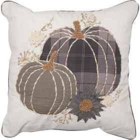 Made in India Two Pumpkin Sunflower Throw Pillow -