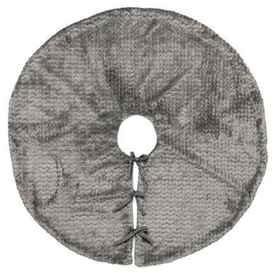 "Bella Lux Textured Tree Skirt - 52"" in Grey - Clos"