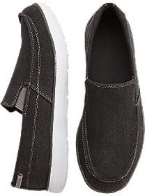 Todd Welsh Gray Canvas Slip-On Boat Shoes
