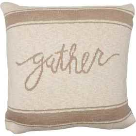 Made in India Native Gather Striped Throw Pillow -