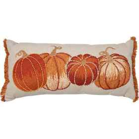 Made in India Embroidered Beaded Pumpkin Throw Pil