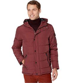 Kenneth Cole New York Crinkle Nylon Front Hooded P