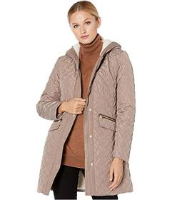 Cole Haan Quilted Faux Sherpa Lined Jacket
