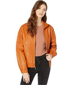 Juicy Couture Leather Zip-Up Jacket