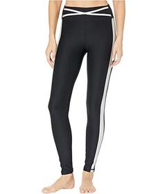 Bebe Sport Metallic Stripe Leggings
